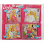 Barbie Quiero Ser 4 Puzzle Con Brillos Base Goma Eva Kreker