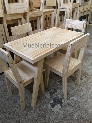 Pino Vintage En Venta Mesa Sillas Reforzadas 1mtrox804 Comedor H9beWEYD2I