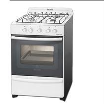 Cocina Escorial Master Blanca 56 Cm 4 Hornallas Y Parrilla