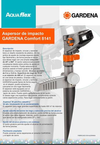 Aspersor Impacto Circular Gardena Comfort 8141 Aquflex