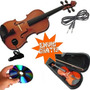 Violin Electrico Estudio 4/4 Estuche Arco Resina Cable Mic