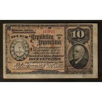 Argentina - Caja De Conversion Fraccionario 10 Cent. 1893