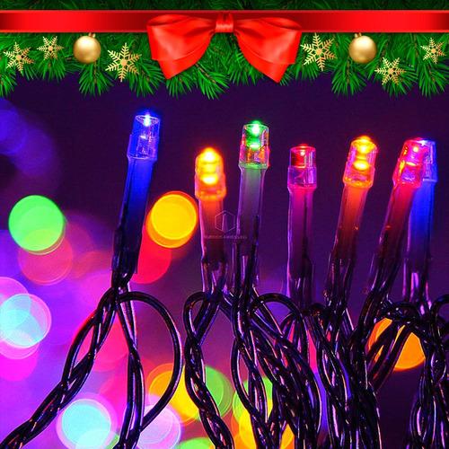 40d960a29dc Luces Navidad Led 100 Lamparas Colores Varios 8 Metros 220v