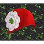 Gorro Con Flor Y Cuello Con Botones Tejido A Crochet