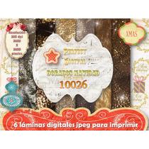 Kit Imprimible 6 Làminas Navidad Dorados +moldes Cajitas