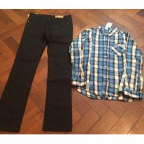 Set De Jean + Camisa Marca Cheeky Talle 12 Varon Nuevo
