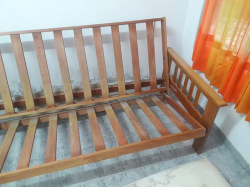 Futon nogal sillon cama 2 plazas 2100 launi precio for Futon 2 plazas precio