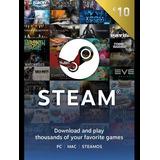 Tarjeta Steam Wallet 10 Usd Dolares
