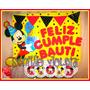 Cartel Bienvenida Cumpleaños Nombre Personajes Fiestas
