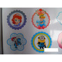 50 Stickers 5cm Troquelados Personalizados Lavable Color