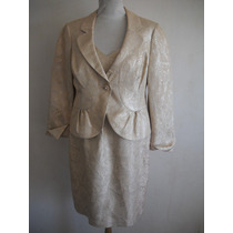 Fadma Chaqueta Jones New York Talle 12 Beige Dorad
