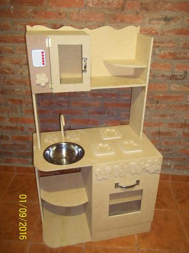 Cocina infantil de juguete madera cocinita casitas muebles for Cocina infantil madera