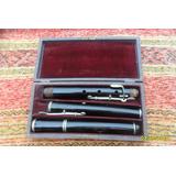 Antigua Flauta Traversa Sellada System Buffet Crampon Leer