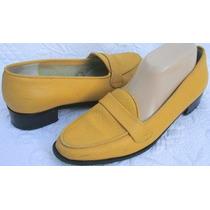Zapatos Mocasin 40 Cuero Vacuno Amarillo Mostaza (ana.mar)