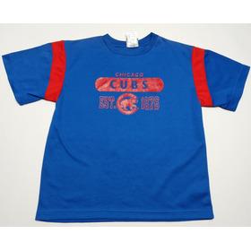 Remera Chicago Cubs Mlb Baseball Talle 10-12 Juvenil