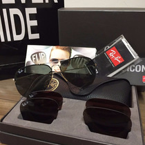 Ray Ban Aviator Flip Out Rb3460 Cristales Intercambiables
