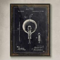 Cuadro Vintage Edison Negro (60x45 Cm)