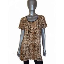 Vestido, Tunica, Remeron De Fibrana Estampada, Animal Print