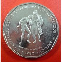 República Dominicana 500 Años Del Descubrimiento 1 Peso 1990