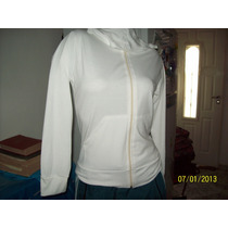 Campera En Modal Color Blanca Con Gorrita Talle 3