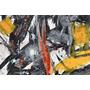Cuadro De Pintura Abstracta En Tela Canvas S/bastidor 93x62