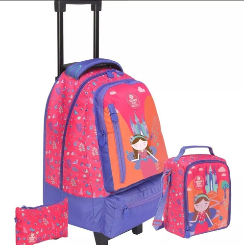 463c0bfaf Xtrem Mochila Con Carro Jardin Infantil Escolar 106663-7032