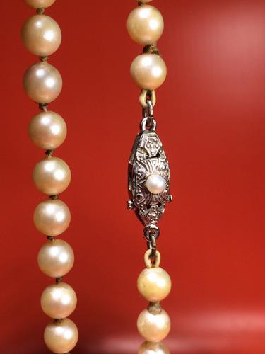 f84b8c62e096 Antigua Collar De Perlas Autenticas
