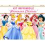 Kit Imprimible Princesas, Bella Aurora Cenicienta Sirenita