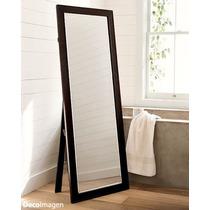 Espejo de pie marco madera espejos con marco de madera for Espejo pie madera