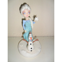 Adorno De Torta Elsa Y Olaf Frozen - Doc Jueguetes - Henry