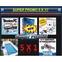 Super Promo 5x1 Construcción Karting Piscinas Tecnico Pc