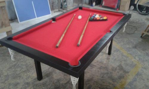 Mesa De Pool Semiprofesional +accesorios+embalaje Sin Cargo!