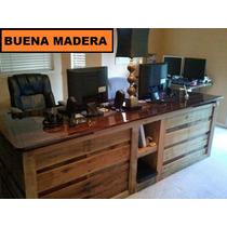 Escritorio Mostrador Rustico De Madera // Buena Madera