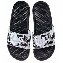Nike Benassi Jdi Print Black/white - Mujer Envío Gratis!