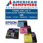 Cartuchos Epson T195 Original Combo Xp211 Neg+amar+mag+cyan