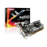 Placa De Video Nvidia Msi Geforce 200 Series N210 N210-md1g/d3 1gb