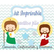 Kit Imprimible Santitosplis Comunion Bautismo Confirmacion