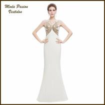 Imponente Vestido Bordado Gala Novia Importado Moda Pasión