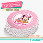 Minnie Bebé - Topper Florcita Para Imprimir