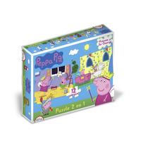 Peppa Pig Rompecabezas 2 En 1 Puzzle 12 Piezas Original