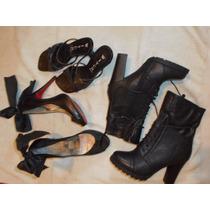 Lote X 3 Calzados Botas Nueva, Zapatos Paruolo Suecos Witch