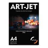 Resma A4 Foto Glossy Brillante 20hs 200g Fotografico Art-jet