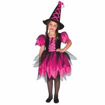 Disfraz Bruja Encantada Y Sombrero Halloween