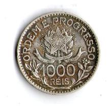 Brasil Moneda De Plata 1913 1000 Reis Km#510 * Argentvs