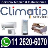 Service Aire Split Heladeras Comerciales Camaras Carga Gas