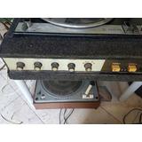 Antiguo Combinado Amplificador Bandeja Giradisco Philips