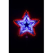 Estrella Navidad Multicolor De Led 50cm 120 Luces Guirnalda