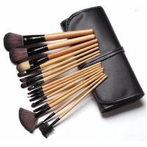 Set Profesional De 15 Brochas Y Pinceles Para Maquillaje