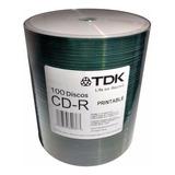 Cd Tdk Printable Inkjet Full Print Bulk X100u 700mb 80 Min
