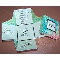 Invitaciones Cajita 15, Casamientos, Cumpleaños